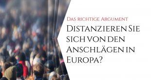 """EBook: 05 Frage: """"Distanzieren Sie sich von den Anschlägen in Europa?"""""""