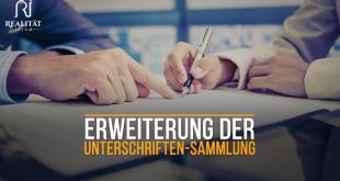 Erweiterung der Unterschriften-Sammlung WEBSITE-BILD